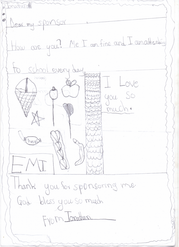 Jonathan's letter to Amy
