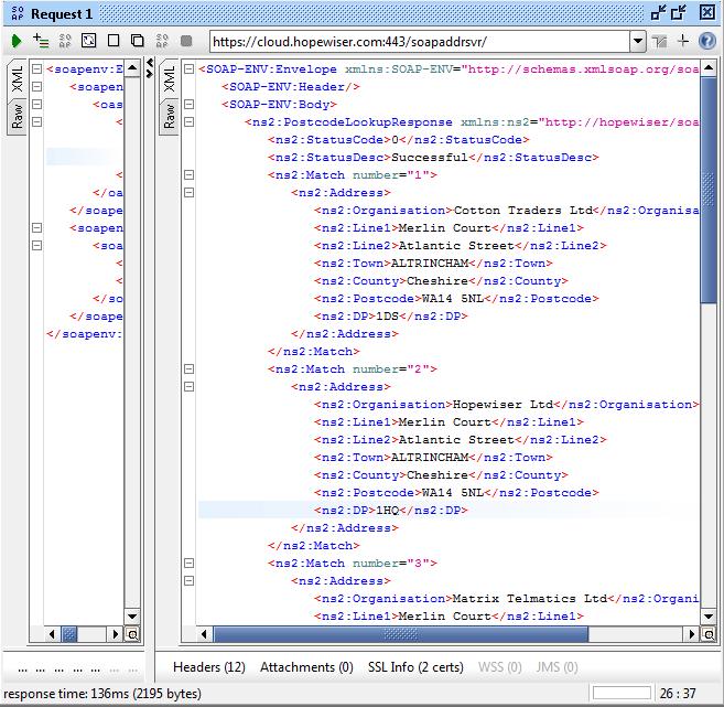 Postcode lookup complete
