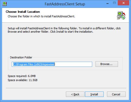 fastaddressclient-installing