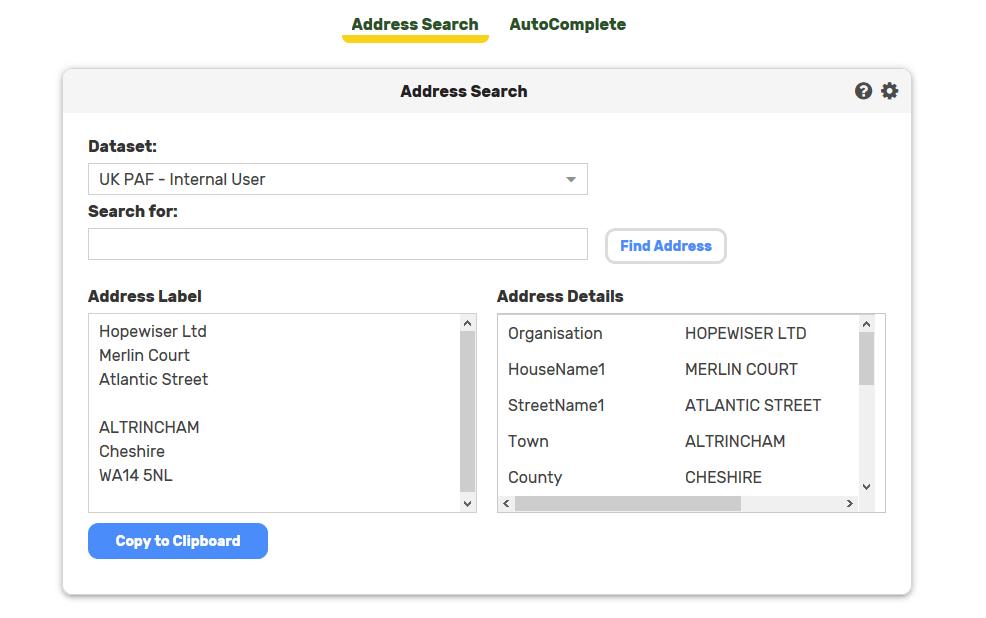 AddressLookupWebApp